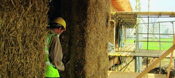 The Hub being built by Straw Works. Photo credit: Anne Thorne Architects